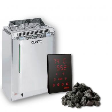 Harvia Topclass Combi Saunaofen 8 KW Xenio Touch Steuerung Saunasteine Sauna